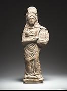 Standing female kithara player