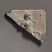 Glass plaque fragment