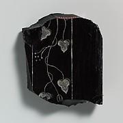 Obsidian revetment slab fragment