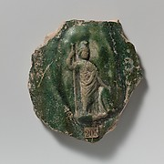 Terracotta vase fragment with relief of Minerva