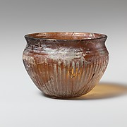 Glass bowl with fluted decoration