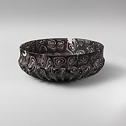 Glass mosaic ribbed bowl