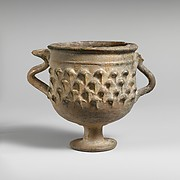 Lead-glazed stemmed cup