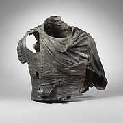 Bronze torso from an equestrian statue wearing a cuirass