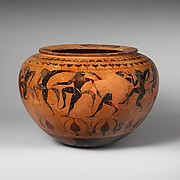 Terracotta dinos (deep round-bottomed bowl)