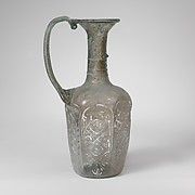 Glass hexagonal jug