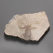 Wall painting fragment with winged figure