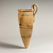 Terracotta conical rhyton (ritual vessel)
