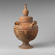Terracotta jar with lid