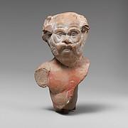Terracotta bust of a satyr