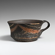 Terracotta carinated cup