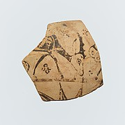 Fragment of a terracotta oinochoe (jug)