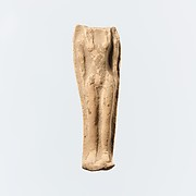Terracotta statuette of a female figure