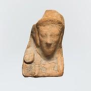Terracotta bust of a female figure