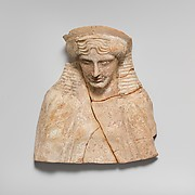 Terracotta bust of a man