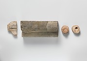 Two gutti from a group of fragments from the Temple of Apollo at Phigaleia (Bassae)