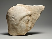 Marble relief fragment with the head of a youth