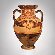 Terracotta neck-amphora (storage jar)