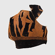 Fragment of a terracotta bell-krater (bowl for mixing wine and water)