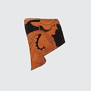 Fragment of a terracotta column-krater (bowl for mxing wine and water)