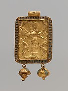 Gold and enamel pendant with Mistress of Animals