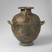 Bronze hydria: kalpis (water jar)