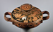 Terracotta lekanis (covered dish)
