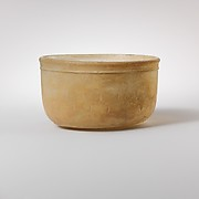 Glass bowl with cut decoration
