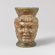 Glass cup in the shape of a negro head