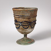Glass stemmed cup