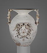 Terracotta two-handled vase