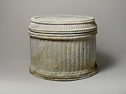 Marble cinerary urn with lid