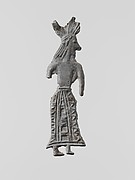 Lead figure of a woman with wreath
