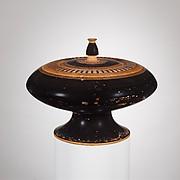 Terracotta plemochoe (vase for perfume)