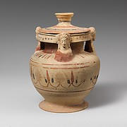 Terracotta pyxis with lid (box)