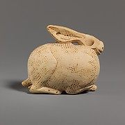 Terracotta vase in the form of a hare