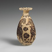 Terracotta alabastron (oil flask)