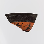 Fragment of a kylix: band-cup (drinking cup)