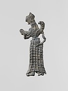Lead figure of a winged goddess, perhaps Artemis Orthia