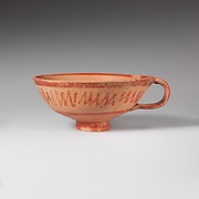 Terracotta cup with one handle