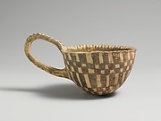 Terracotta loop-handled cup