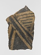 Terracotta vessel fragment with linear motifs
