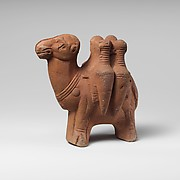 Terracotta figurine of a camel carrying transport amphorae
