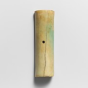 Section of an ivory cylinder with a hole