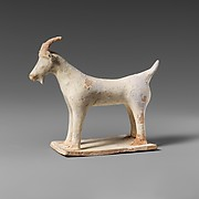 Terracotta statuette of a goat