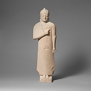 Limestone statuette of a male votary (worshipper)