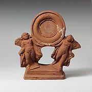 Terracotta mirror stand