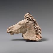 Terracotta horse's head