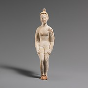 Terracotta statuette of a doll