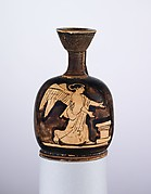 Terracotta squat lekythos
